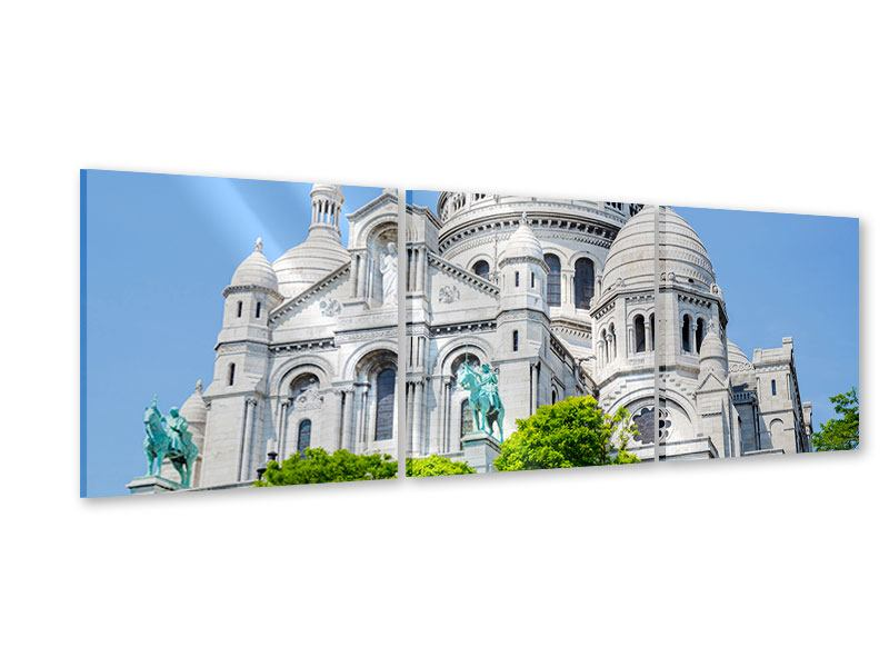 Panoramic 3 Piece Acrylic Print Paris- Montmartre