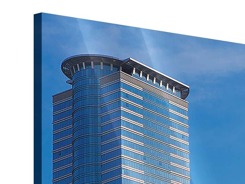 Panoramic 3 Piece Acrylic Print Two Skyscrapers