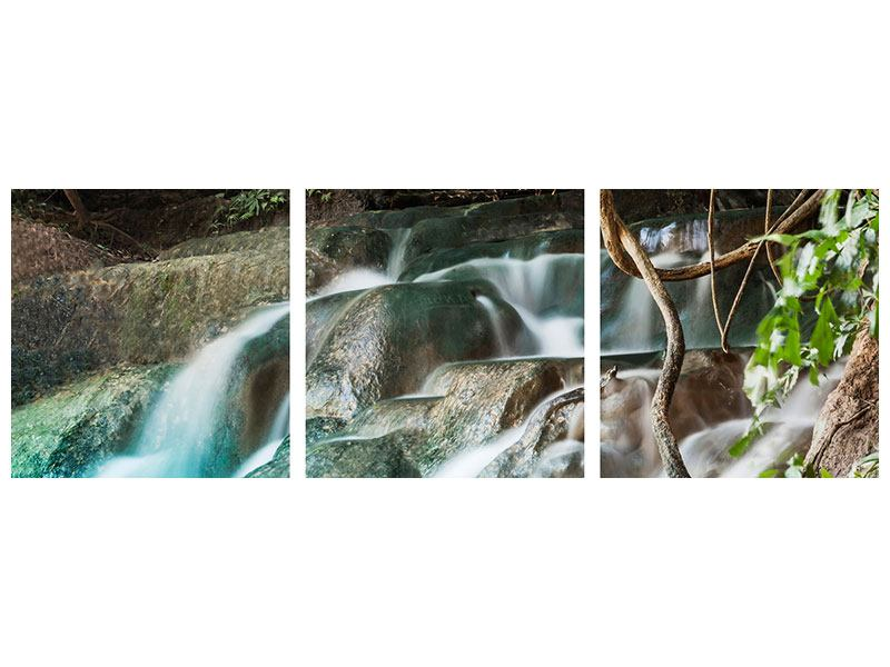 Panoramic 3 Piece Acrylic Print At The River Of Life