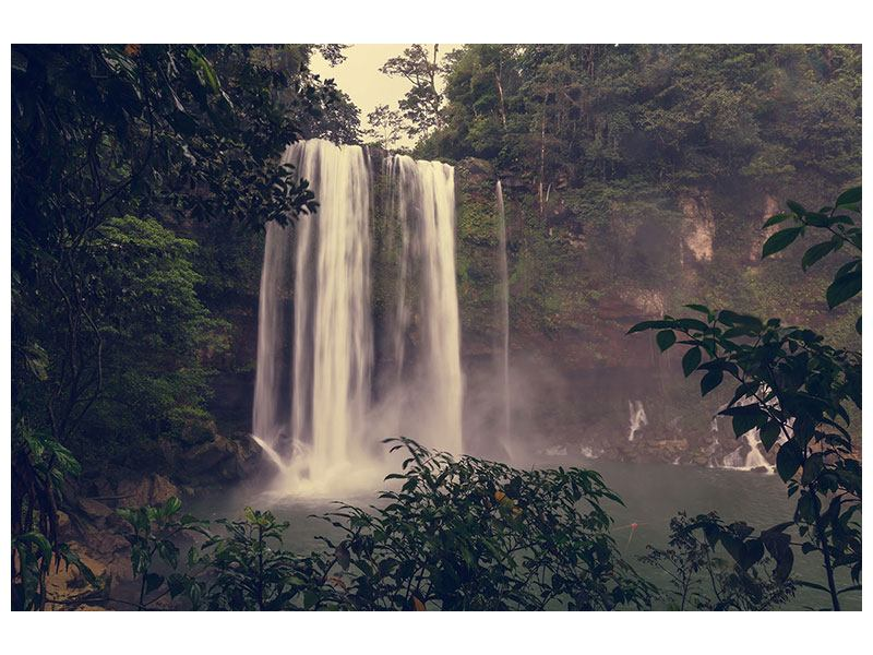 Acrylic Print Waterfall In Mexico
