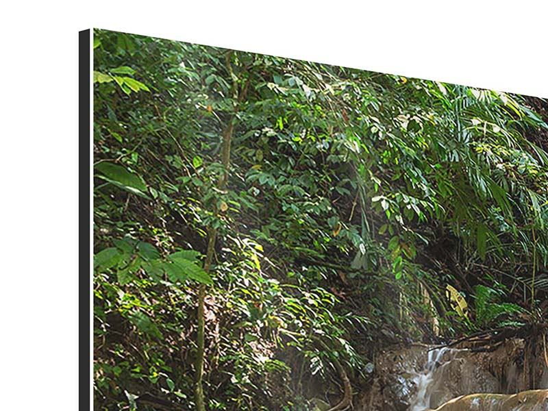 Modern 3 Piece Aluminium Print Mexican Waterfall