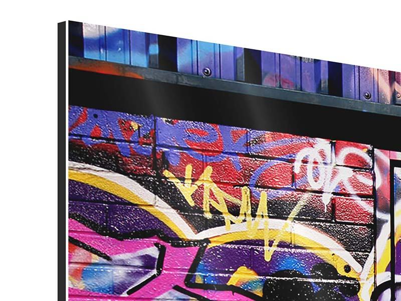 Modern 5 Piece Aluminium Print Graffiti Wall Art