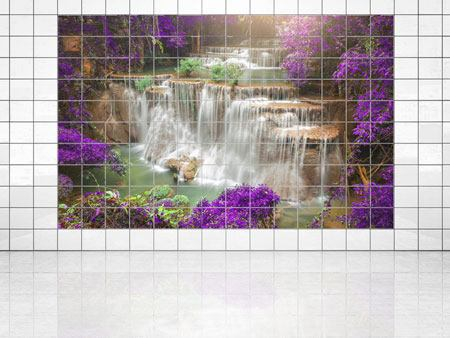 Tile Print Photowallpaper Garden Eden