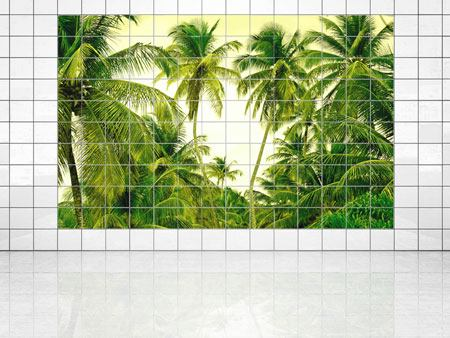 Tile Print Mural Ready for a vacation