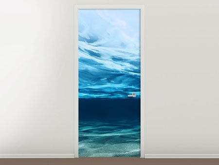 Door Mural Light Reflections Underwater