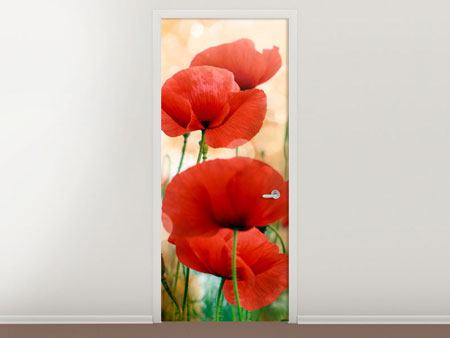 Door Mural The Poppy
