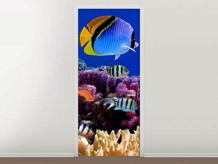 Door Mural World Of Fish