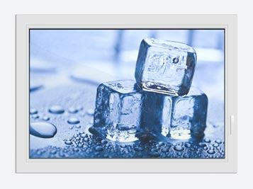 Window Print Ice Cubes