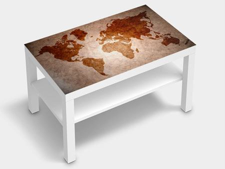 Furniture Foil Vintage Map Of The World