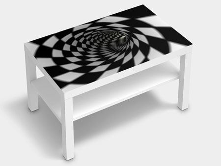 Furniture Foil Abstract Tunnel Black & White
