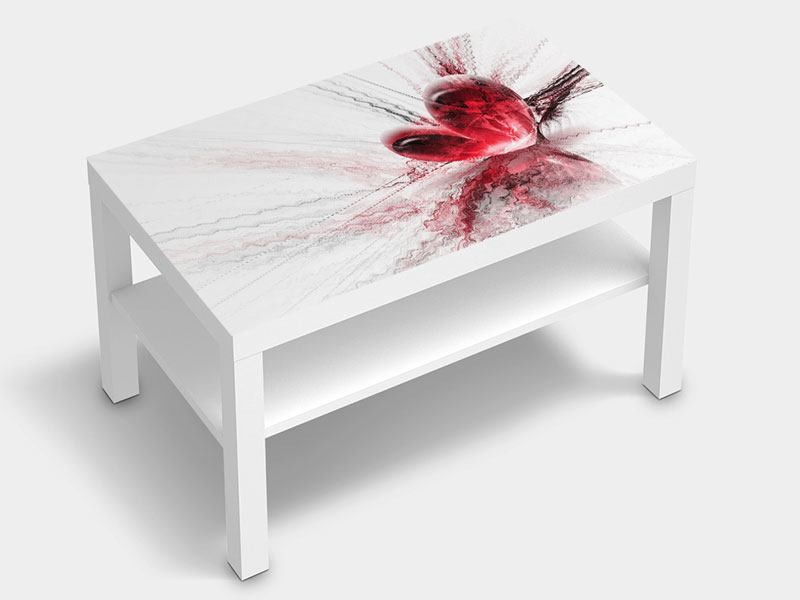 Furniture Foil Heart Reflection