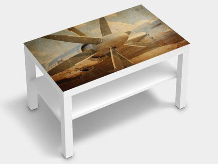Furniture Foil Propeller Plane In Grunge Style