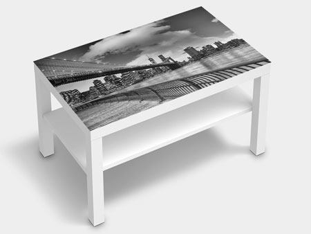 Furniture Foil Skyline Black And White Photography Brooklyn Bridge NY