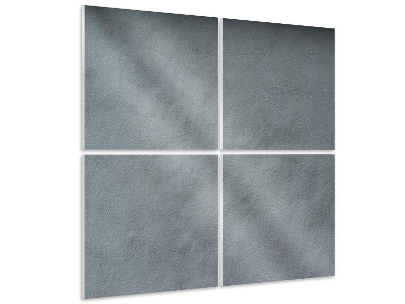 Tableau Forex en 4 parties Mur gris foncé