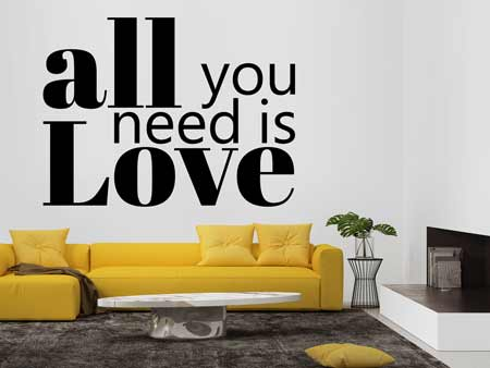 Wall Sticker All You Need Is Love