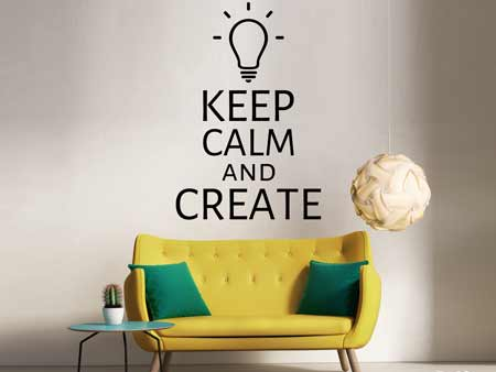 Wall Sticker Keep calm and create