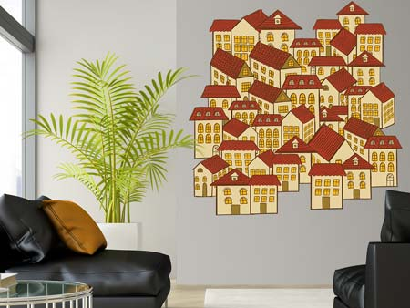 Wall Sticker Houses