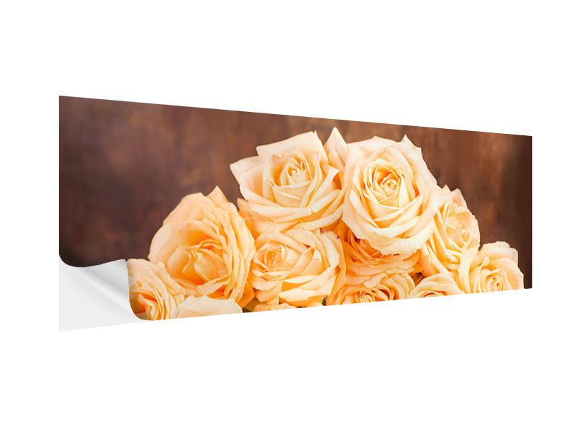 Panoramic Self-Adhesive Poster Rose Time