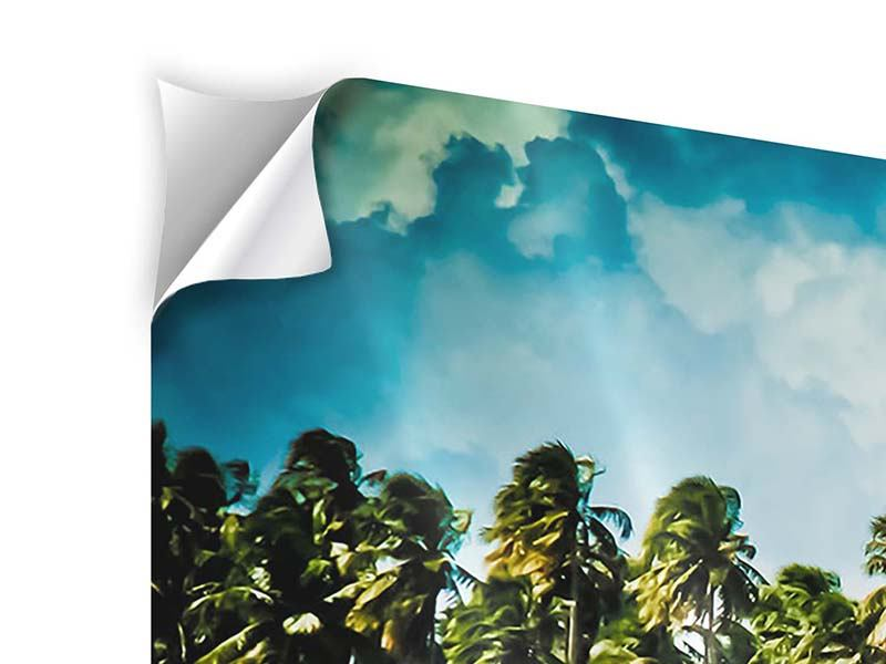 Panoramic Self-Adhesive Poster The Beach