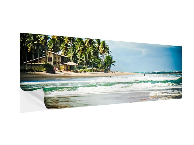 Posters adhesif Panoramique La plage