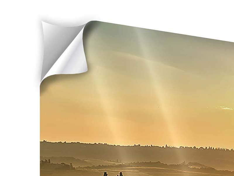3 Piece Self-Adhesive Poster Sunset In The Rocks