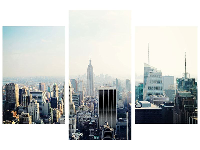 Modern 3 Piece Self-Adhesive Poster NYC