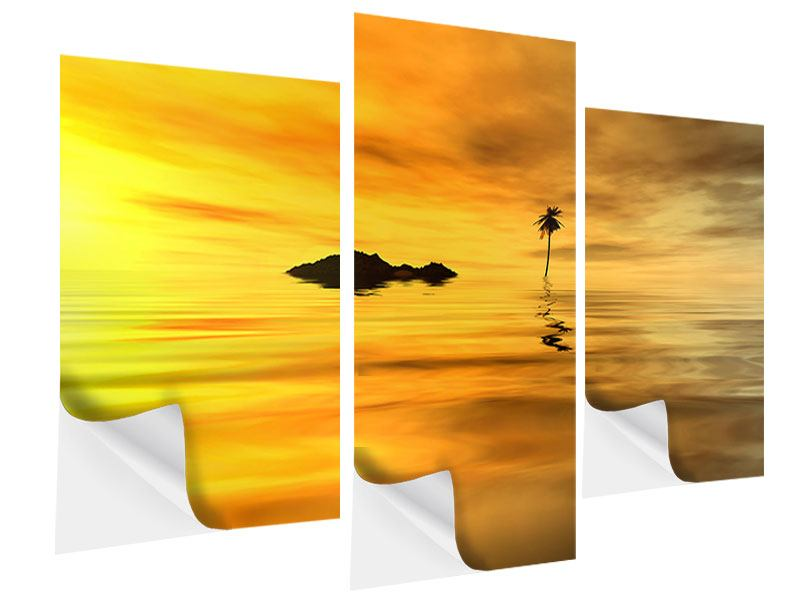 Modern 3 Piece Self-Adhesive Poster Ready For Island