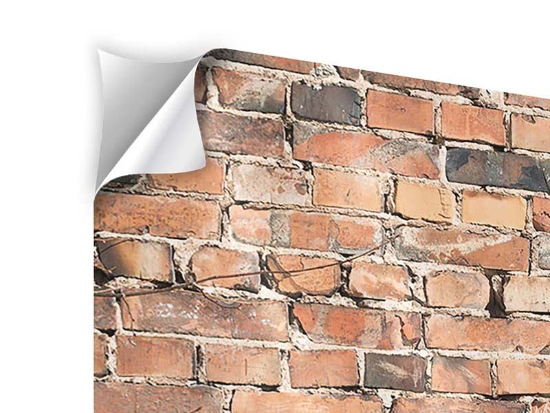 Modern 3 Piece Self-Adhesive Poster Old Brick Wall