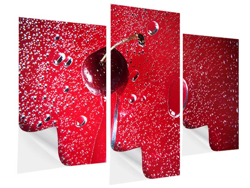 Modern 3 Piece Self-Adhesive Poster Photo Waallpaper The Cherry