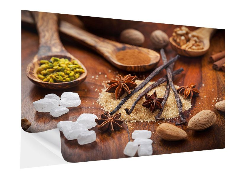 Self-Adhesive Poster Christmassy Spices
