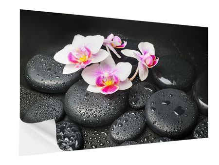 Self-Adhesive Poster Feng Shui Orchid Zen