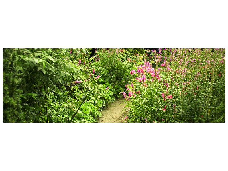 Panoramic Canvas Print Garden Path