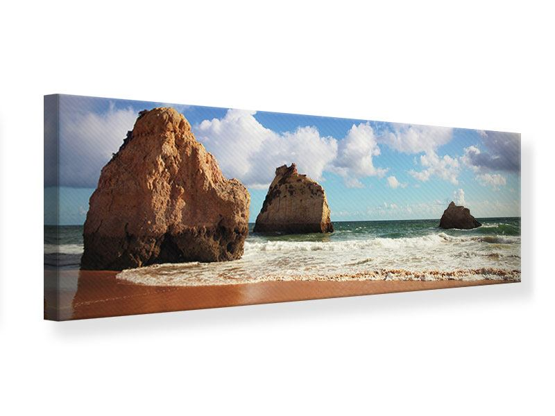 Panoramic Canvas Print Beach Thoughts