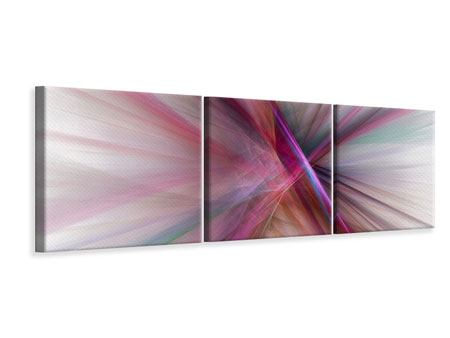 Panoramic 3 Piece Canvas Print Abstract Lights Shine