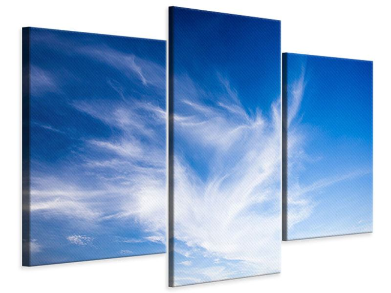 Modern 3 Piece Canvas Print Cirrostratus Clouds