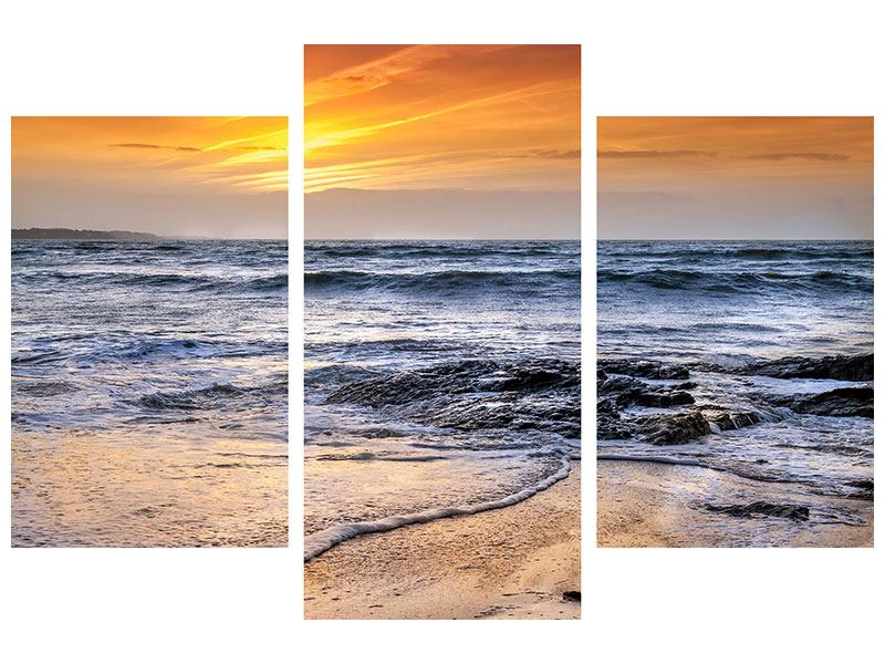 Modern 3 Piece Canvas Print The Sea