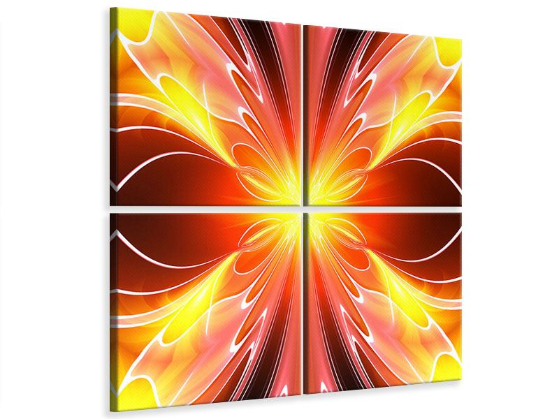 4 Piece Canvas Print Abstract Colorful Spectacle
