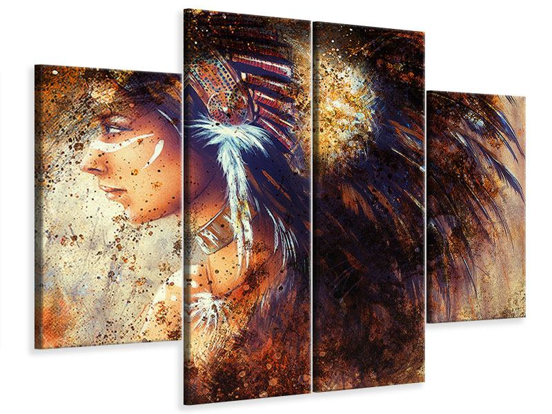 4 Piece Canvas Print Indians