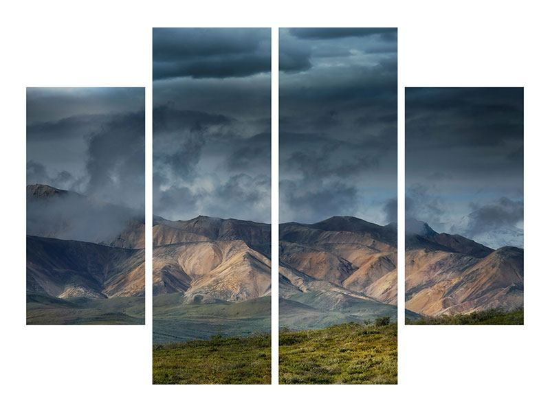 4 Piece Canvas Print Silver Lining
