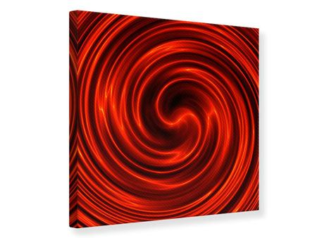 Canvas Print Abstract Red Whirl