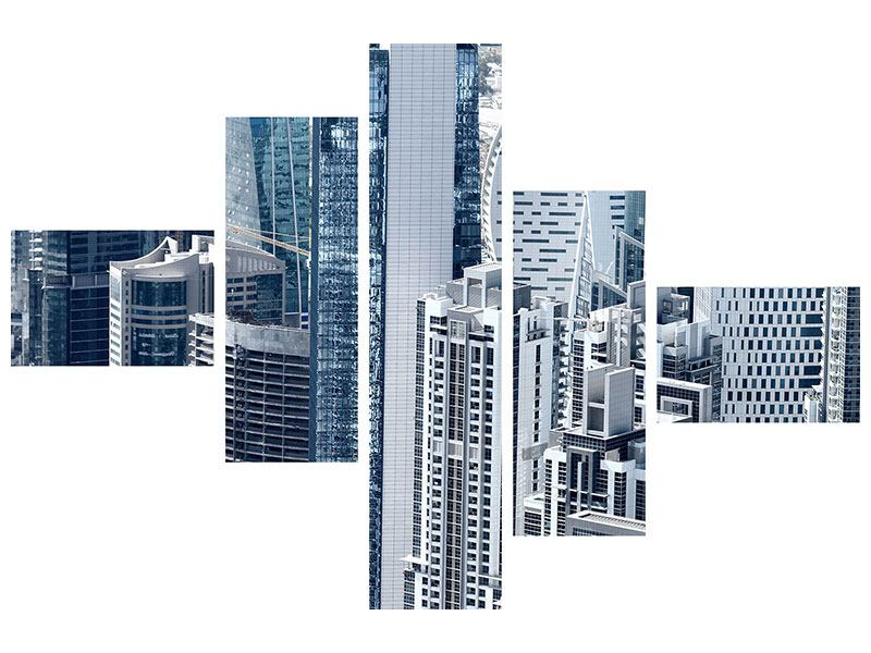 Modern 5 Piece Canvas Print The Skyscrapers Of Dubai