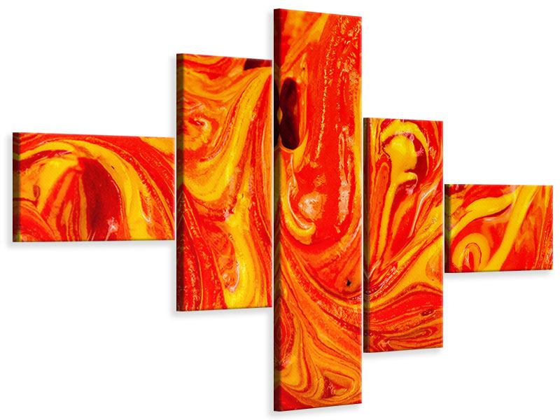 Modern 5 Piece Canvas Print Mural Painting