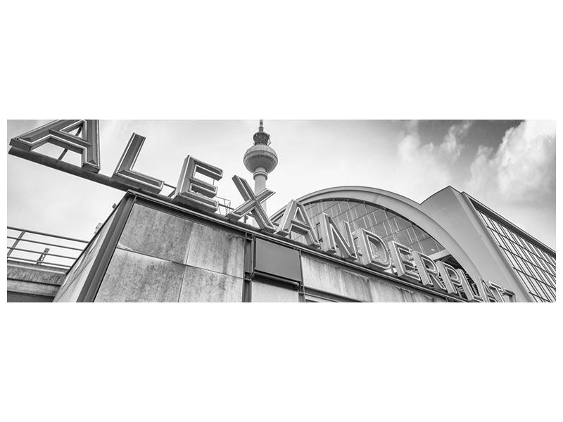 Panoramic Metallic Print Alexanderplatz