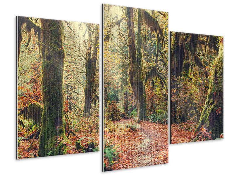 Modern 3 Piece Metallic Print Fairies Forest