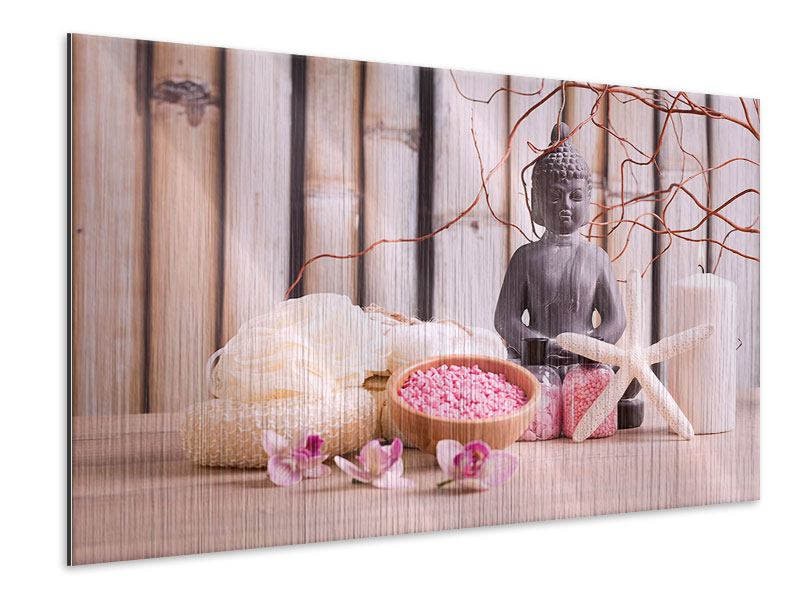 Metallic Print Spa & Buddha