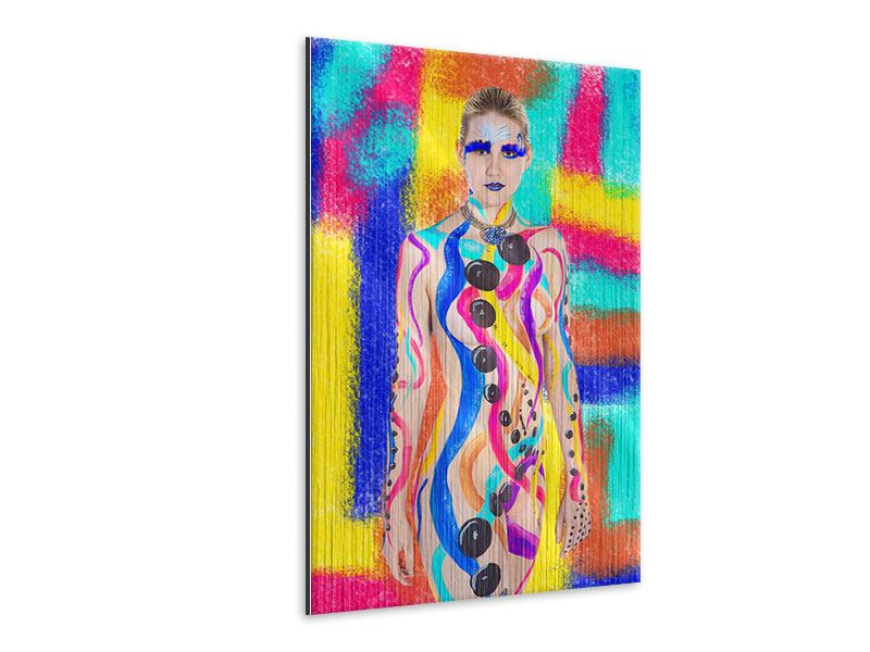 Metallic Print Colorful Bodypainting