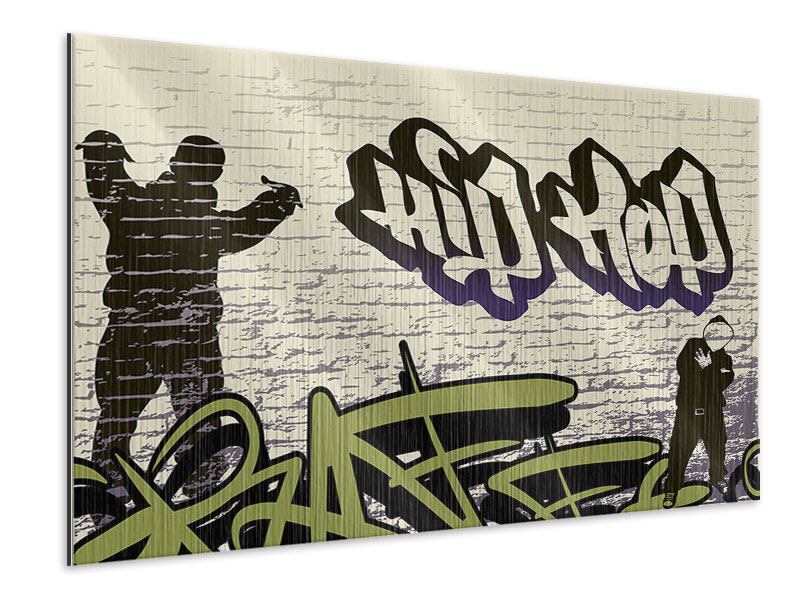 Metallic-Bild Graffiti Hip Hop