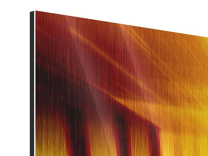 Metallic Print Abstract Golden Room
