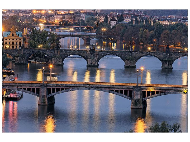 Metallic Print Bridges In Prague