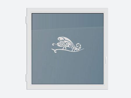 Decorative Window Film abstract chameleon